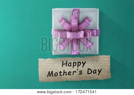 Box Gift And Happy Mother's Day Message For Mother's Day