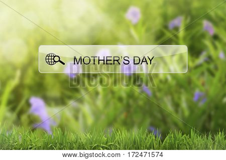 Mother's Day Keyword On Virtual Screen Browser