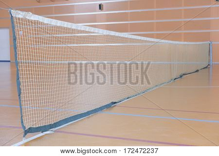 Interior of a tennis hall