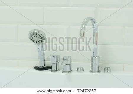 Fauset and shower close up