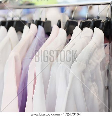 The image of a medical uniform in a shop