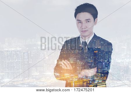 Portrait Of Business Man With Arms Crossed