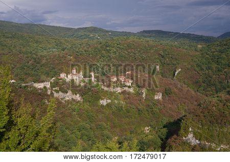 Motsameta Monastery (motsameta Church) Near Kutaisi, The Imereti Region Of Georgia