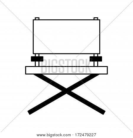 director chair cinema icon vector illustration design