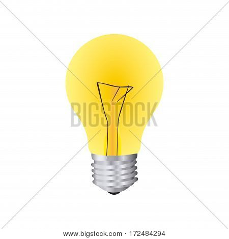 yellow bulb icon image, vector illustration design stock