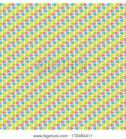 Bright fun multicolor geometric mosaic seamless pattern