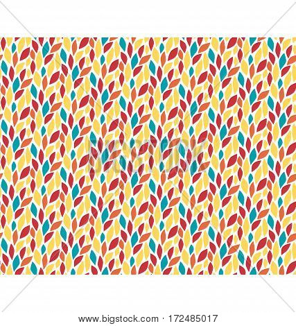 Seamless multicolor bright fun abstract leaf pattern