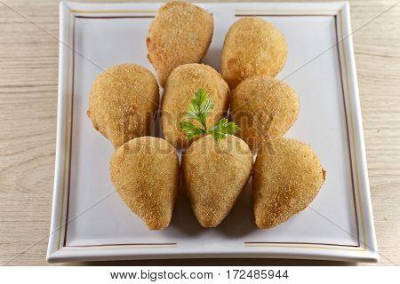 Brazilian deep fried chicken snack cream cheese snack
