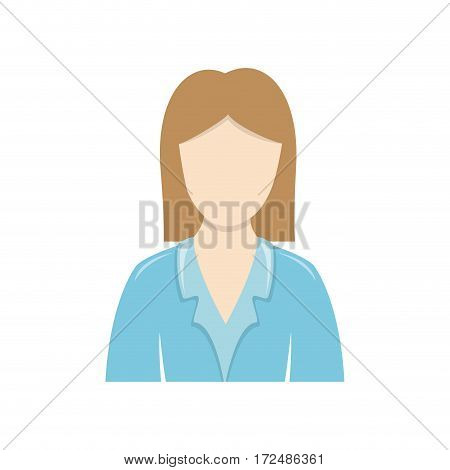 color people formal woman icon, vector illustration image