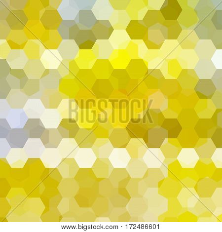 Background Made Of Yellow Hexagons. Square Composition With Geometric Shapes. Eps 10