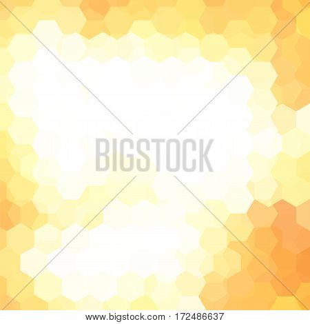 Abstract Background Consisting Of Yellow, White Hexagons. Geometric Design For Business Presentation