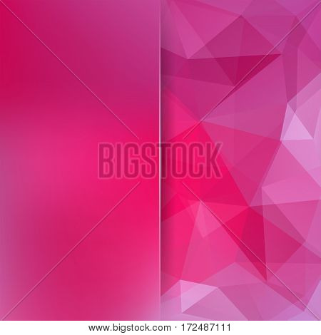 Background Made Of Pink Triangles. Square Composition With Geometric Shapes And Blur Element. Eps 10