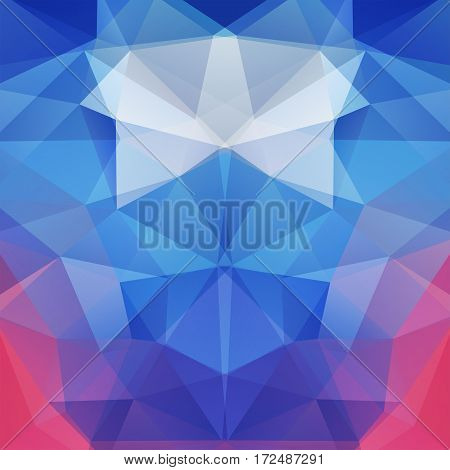 Background Of Geometric Shapes. Mosaic Pattern. Vector Eps 10. Vector Illustration. Blue, Pink Color