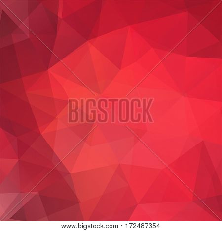 Background Made Of Red, Orange Triangles. Square Composition With Geometric Shapes. Eps 10