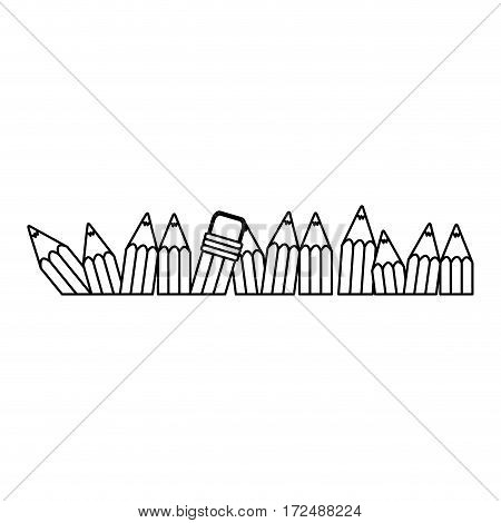 figure pencil color icon stock, vector illustration design image