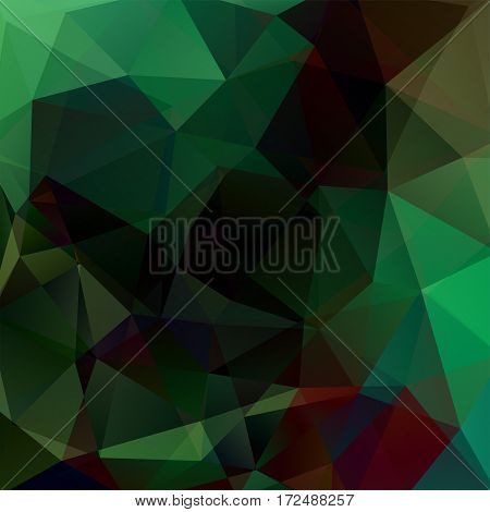 Background Of Geometric Shapes. Green Mosaic Pattern. Vector Eps 10. Vector Illustration
