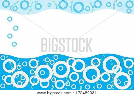 Water bubbles that rise up. Vector illustration.