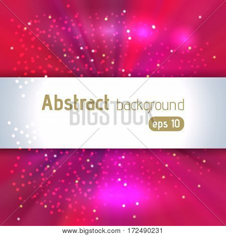 Beautiful Rays Of Light. Shiny Eps 10 Background. Pink Radial Radiant Effect. Vector Illustration
