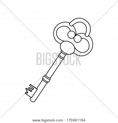 figure old key icon stock, vector illustration image design