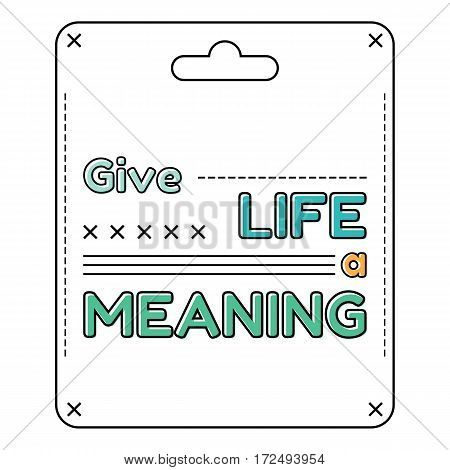 Inspirational and motivational quote in flat style. Vector illustration
