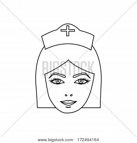 figure face nurce icon image, vector illustration desig
