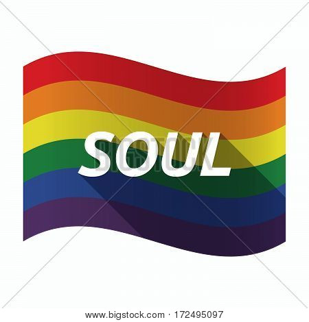 Isolated Gay Pride Flag With    The Text Soul