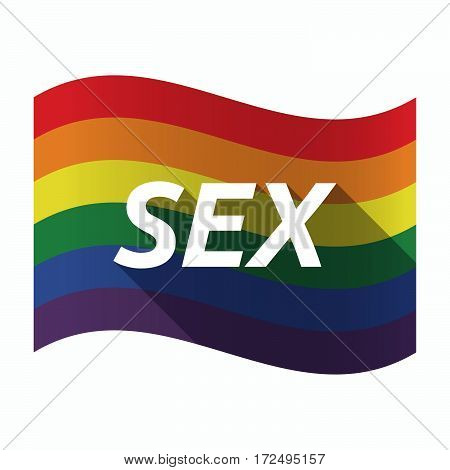 Isolated Gay Pride Flag With    The Text Sex