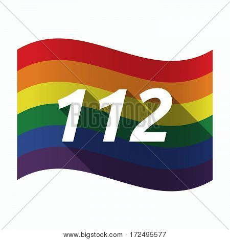Isolated Gay Pride Flag With    The Text 112