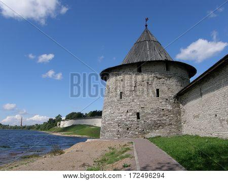 A tower of Pskov Krom (Kremlin), Russia
