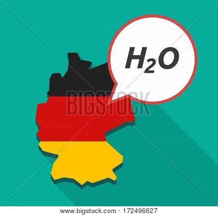Long Shadow Germany Map With    The Text H2O