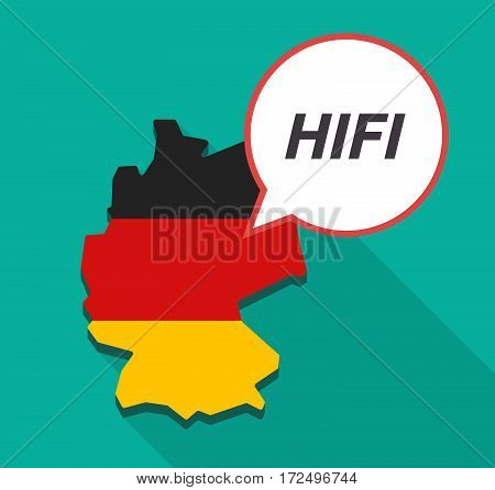 Long Shadow Germany Map With    The Text Hifi