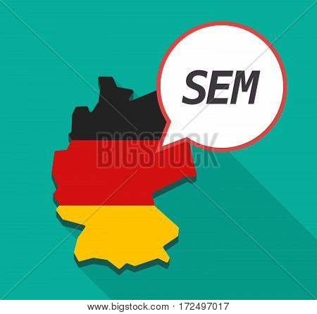 Long Shadow Germany Map With    The Text Sem