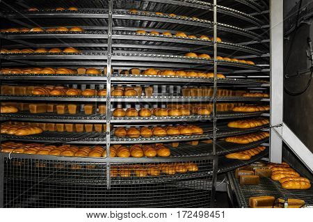 Manufacture Of Bakery Products In The Factory