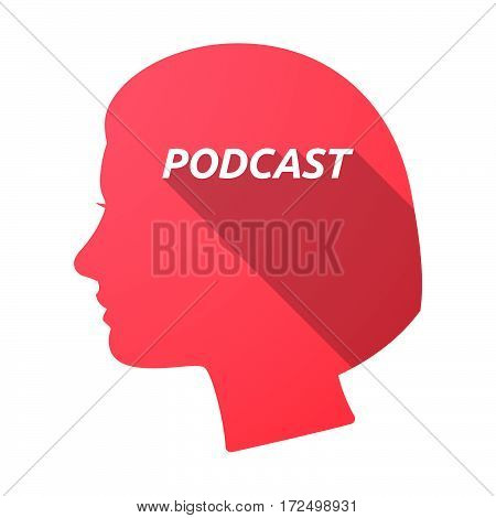 Isolated Female Head With    The Text Podcast