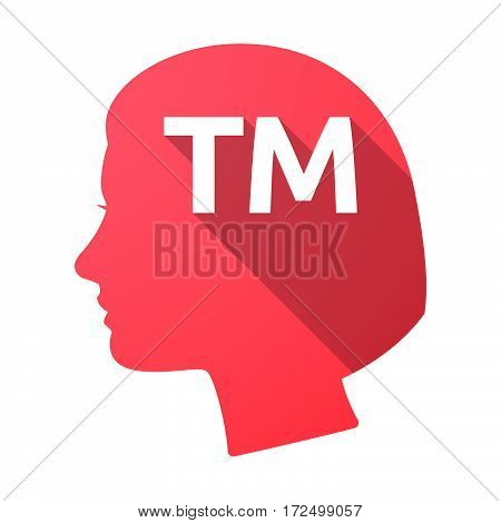 Isolated Female Head With    The Text Tm