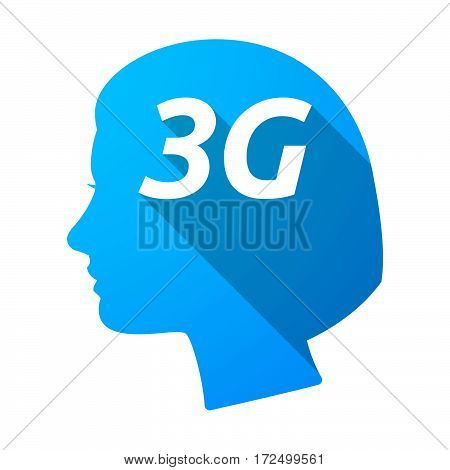 Isolated Female Head With    The Text 3G