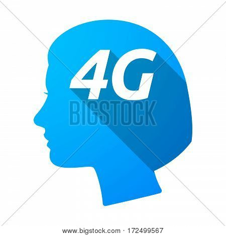 Isolated Female Head With    The Text 4G