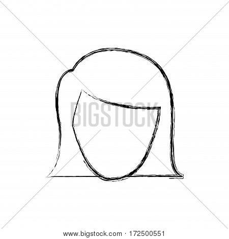 contour face formal woman icon, vector illustration design