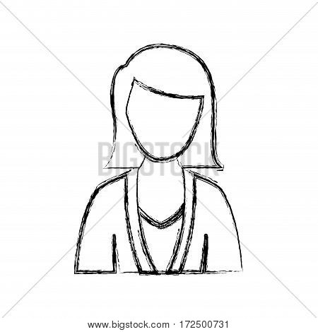 contour people formal woman icon, vector illustration image