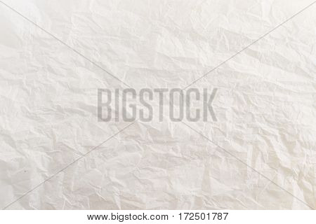 Paper texture. White paper sheet. White creased paper background texture