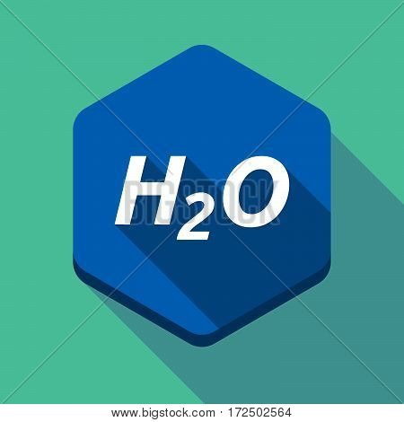 Long Shadow Hexagon With    The Text H2O