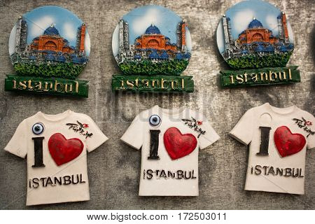Colorful Magnet Souvenirs From Istanbul