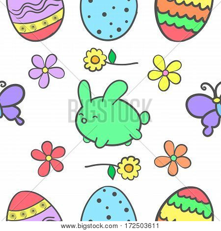 Doodle of easter colorful design vector art