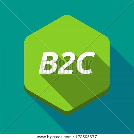 Long Shadow Hexagon With    The Text B2C