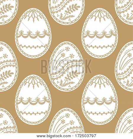 Seamless pattern with easter eggs. Background for greeting card invitation wrapping. Vector Illustration