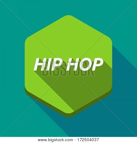 Long Shadow Hexagon With    The Text Hip Hop