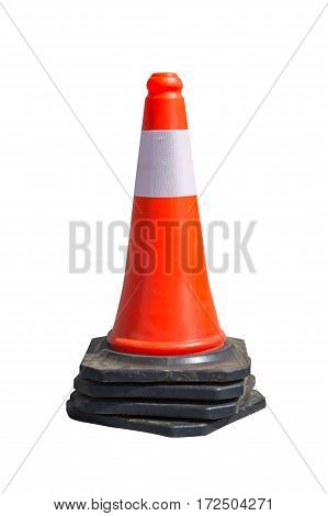 Traffic cone isolated on a white background.