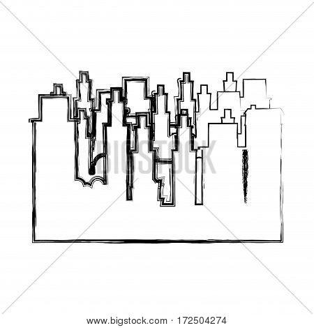 contour city buildings icon image, vector illustration design