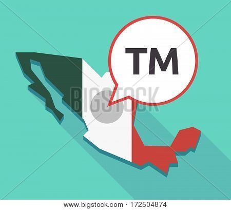 Vector Of Mexico Map With    The Text Tm