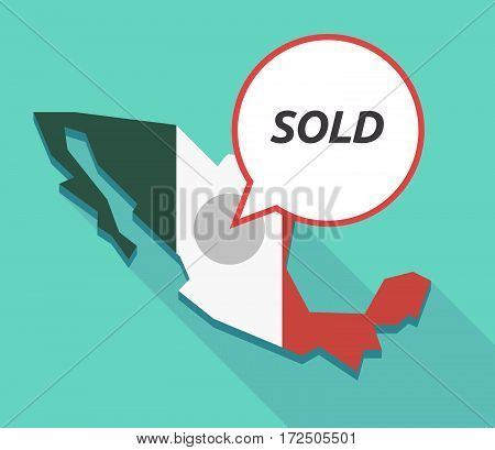 Vector Of Mexico Map With    The Text Sold